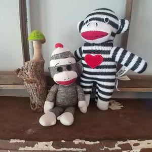 Too cute Sock Monkey Set